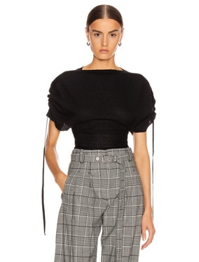 Tie Tweed Top