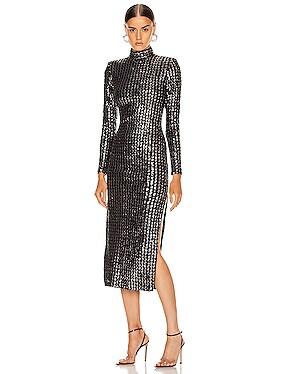 Sequin Side Slit Dress