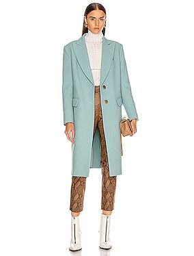 Peaked Lapel Overcoat