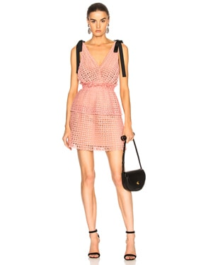 Cutwork Mini Dress