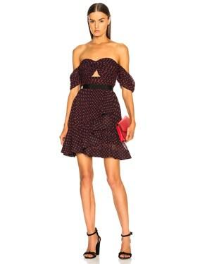 Off Shoulder Plumetis Mini Dress