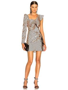 Striped Flounce Mini Dress