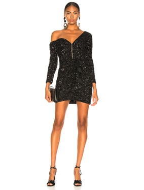 Sequin Ruffle Mini Dress