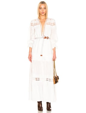 Plumetis Maxi Dress