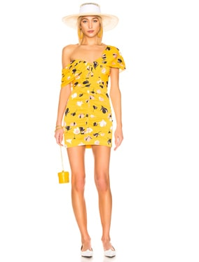 for FWRD Off Shoulder Printed Mini Dress