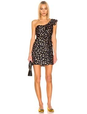 for FWRD Ditsy Jacquard Ruffle Dress