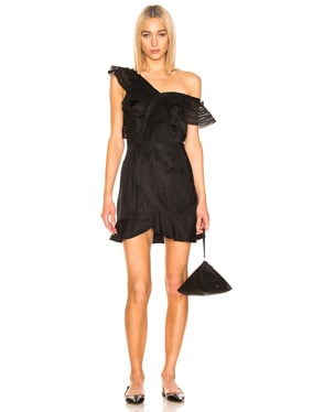 One Shoulder Frilled Dress