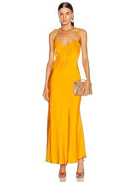 Frilled Jacquard Dress