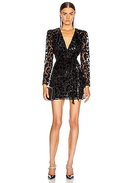 Metallic Leopard Mini Dress