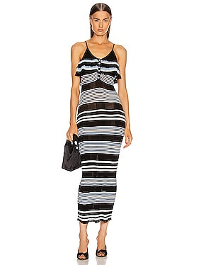 Stripe Fine Knit Cami Dress