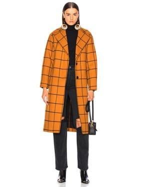 Long Check Overcoat