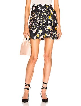 Floral Printed Jacquard Skirt