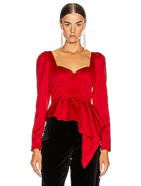 Asymmetric Duchess Top