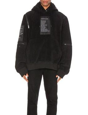 Shoulder Zip Pullover Hoodie