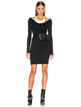 Bodycon Bi Layer Mini Dress