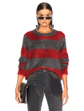 Mohair Stripe Pullover Sweater