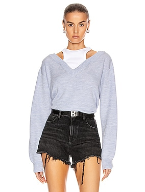 Classic Bi-Layer Off Shoulder Sweater