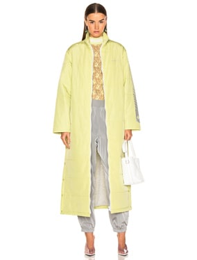 Long Full Zip Quilted Coat