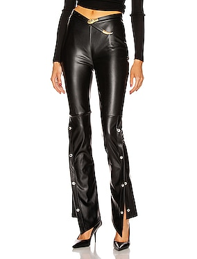 Stretch Washable Faux Leather Pants