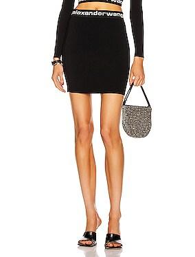 Bodycon Bi-Layer Logo Mini Skirt