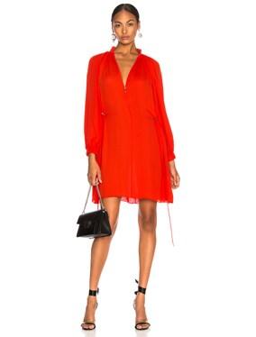Viscose GGT Short Drawstring Hem Dress