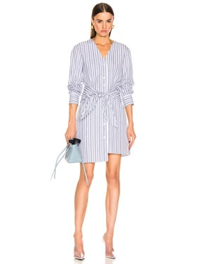 Liam Stripe V-Neck Shirtdress