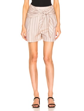 Stripe Suiting Sculpted Short