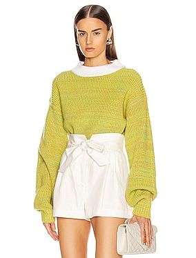 Wool Tweedy Cropped Sweater