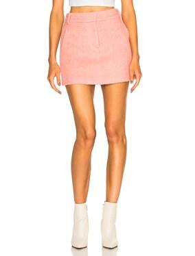 Luxe Mohair Coating Mini Skirt