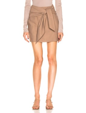 Linen Suiting Skirt with Detachable Top