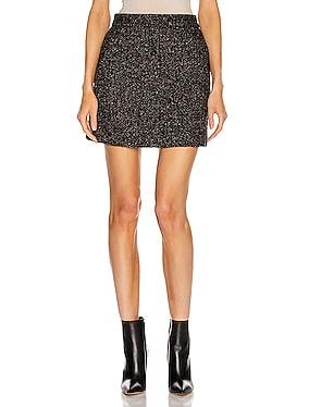 Multi Color Tweed High Waisted Mini Skirt