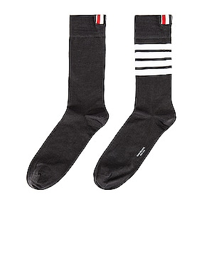 4 Bar Stripe Mid Calf Socks