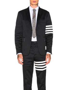 Cotton Twill 4 Bar Unconstructed Jacket