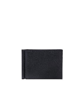 Pebble Grain Money Clip Wallet