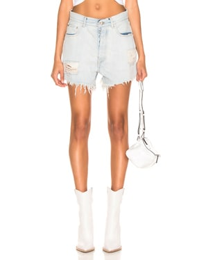 Bleach Baggy Denim Boy Shorts