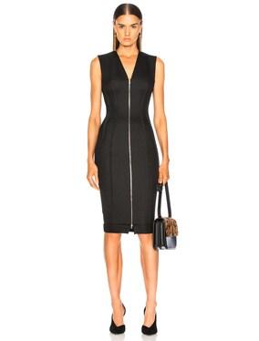 V-Neck Fitted Dress