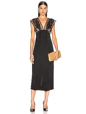 Lace Tabbard Midi Dress