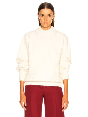 Alpaca Sweater with Elbow Patches