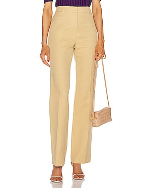 High Waisted Slim Leg Trouser