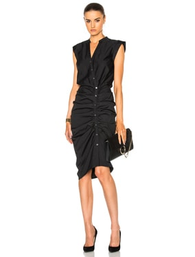 Ruched Shirt Dress