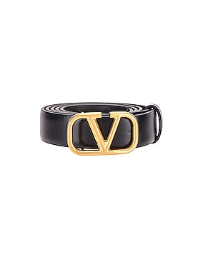 V Logo Buckle Belt
