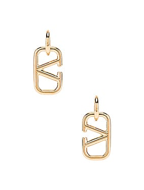 V Logo Earrings