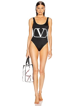 Logo One Piece Swimsuit