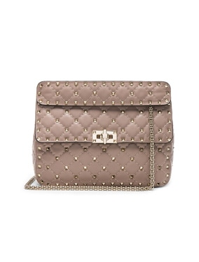 Medium Rockstud Spike Shoulder Bag
