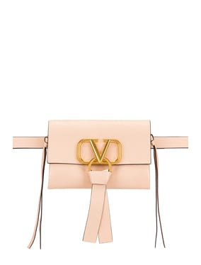 V Logo Ribbon Belt Bag