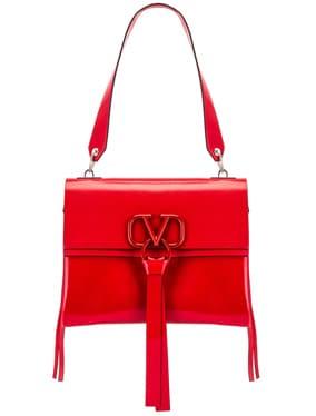 VLogo Ribbon Shoulder Bag