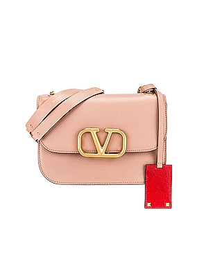 Small VLock Chain Shoulder Bag