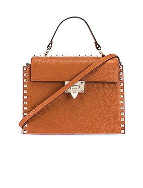 Rockstud Top Handle Bag