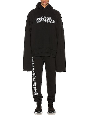 Patched Long Sleeve Hoodie