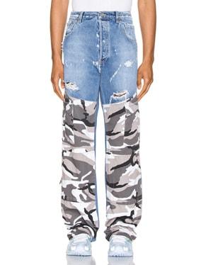 Cargo Denim Pants